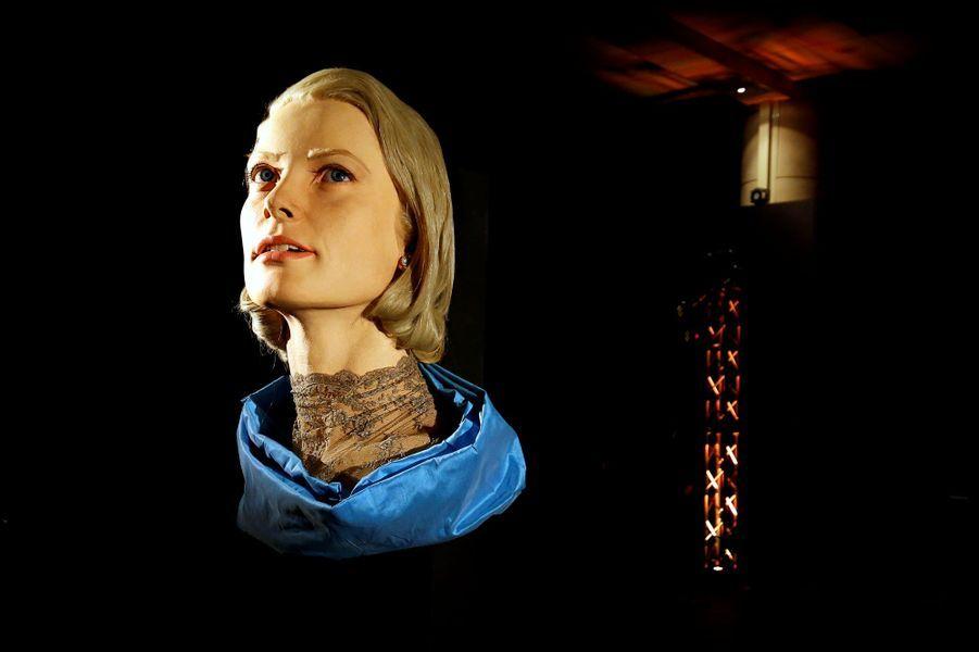 Oeuvre rendant hommage à Grace Kelly, à Monaco le 18 avril 2019