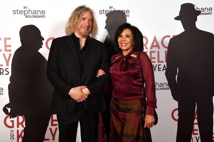Shirley Bassey et Stéphane Bolongaro à Monaco, le 18 avril 2019