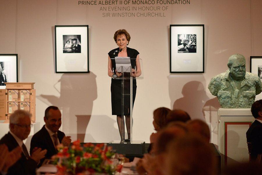 Evelyne Genta, ambassadrice de la Principauté de Monaco au Royaume-Uni, à Londres le 29 octobre 2015