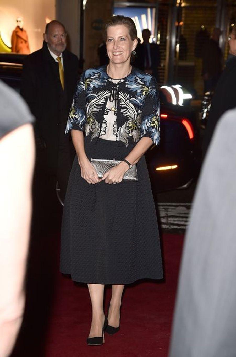 La comtesse Sophie de Wessex à Londres, le 29 octobre 2015