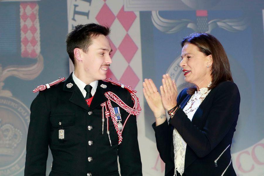 Le Prince Albert, Stéphanie De Monaco Et Louis Ducruet Au Bicentenaire Des Carabiniers 10