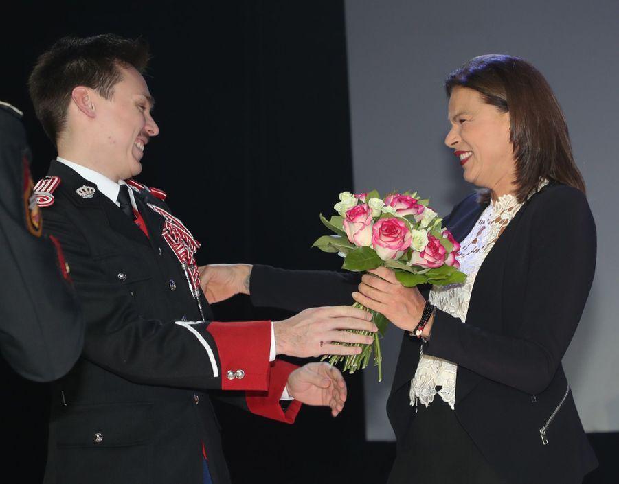 Le Prince Albert, Stéphanie De Monaco Et Louis Ducruet Au Bicentenaire Des Carabiniers 3