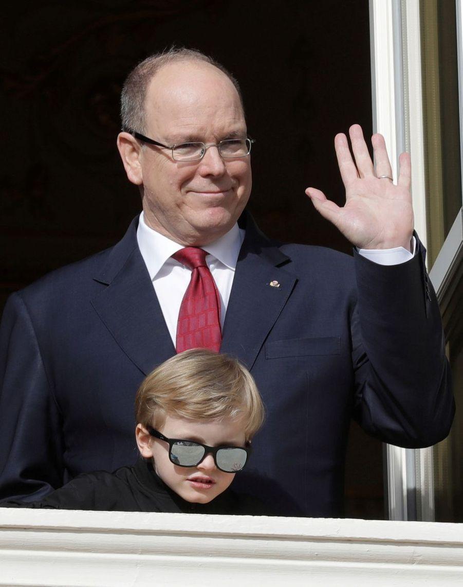 Les princes Albert II et Jacques de Monaco à Monaco, le 27 janvier 2020