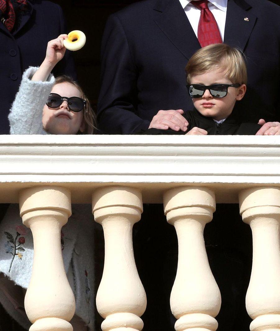 La princesse Gabriella et le prince Jacques de Monaco à Monaco, le 27 janvier 2020