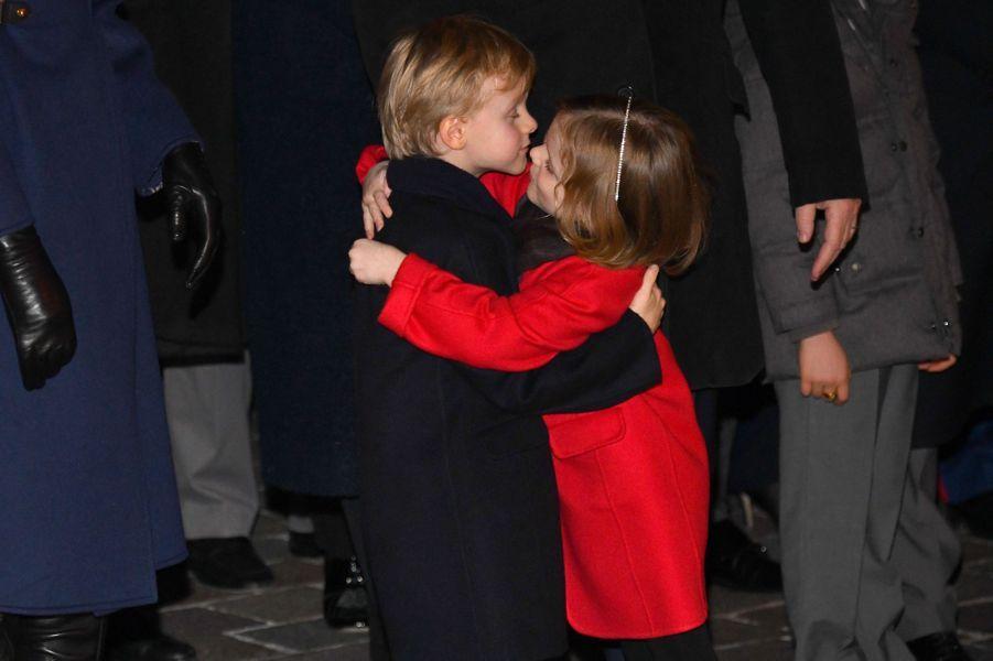 Le prince Jacques et la princesse Gabriella de Monaco à Monaco, le 26 janvier 2020