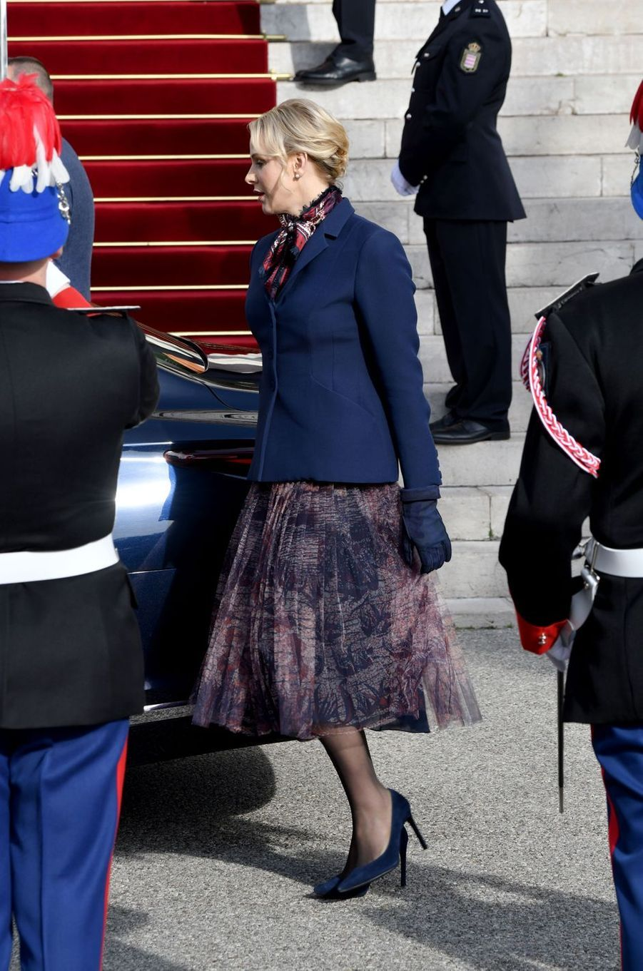 La princesse Charlène de Monaco à Monaco, le 27 janvier 2020