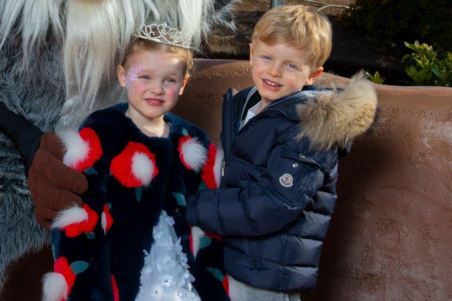 La princesse Gabriella et le prince Jacques de Monaco, le 17 avril 2019