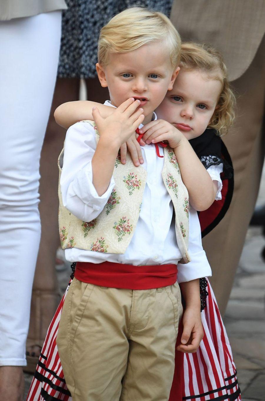 Le prince Jacques et la princesse Gabriella de Monaco, le 31 août 2018