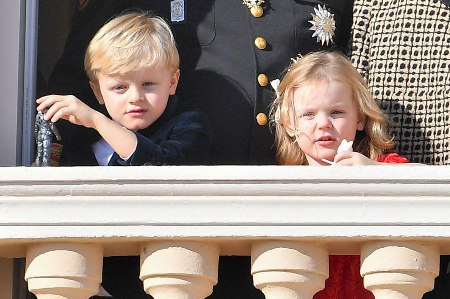 Le prince Jacques et la princesse Gabriella de Monaco, le 19 novembre 2018