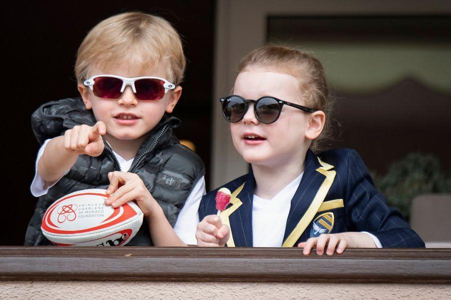Le prince Jacques et la princesse Gabriella de Monaco, le 11 mai 2019