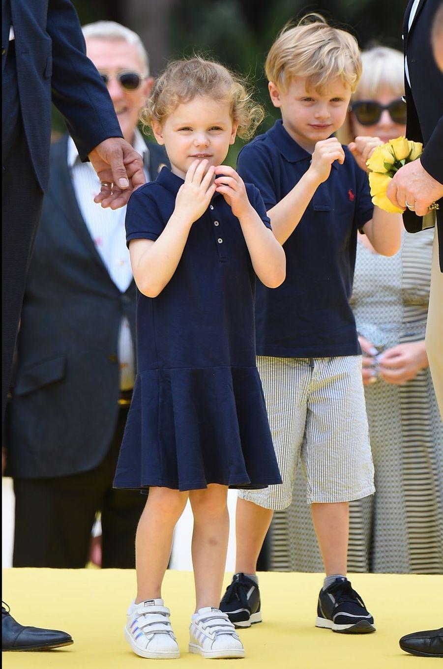 La princesse Gabriella et le prince Jacques de Monaco, le 16 juin 2019