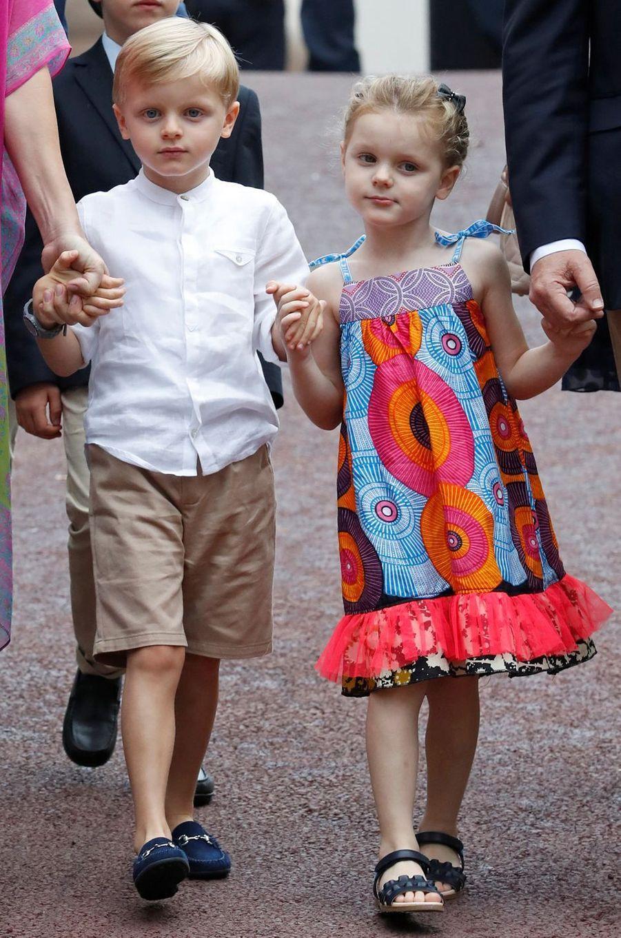 Le prince Jacques et la princesse Gabriella de Monaco, le 6 septembre 2019