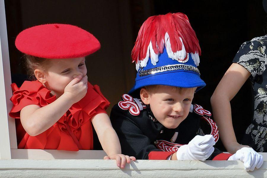 La princesse Gabriella et le prince Jacques de Monaco, le 19 septembre 2019