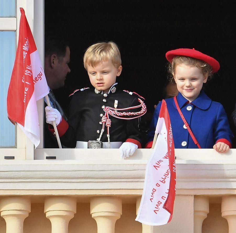 Le prince Jacques et la princesse Gabriella de Monaco, le 19 novembre 2019