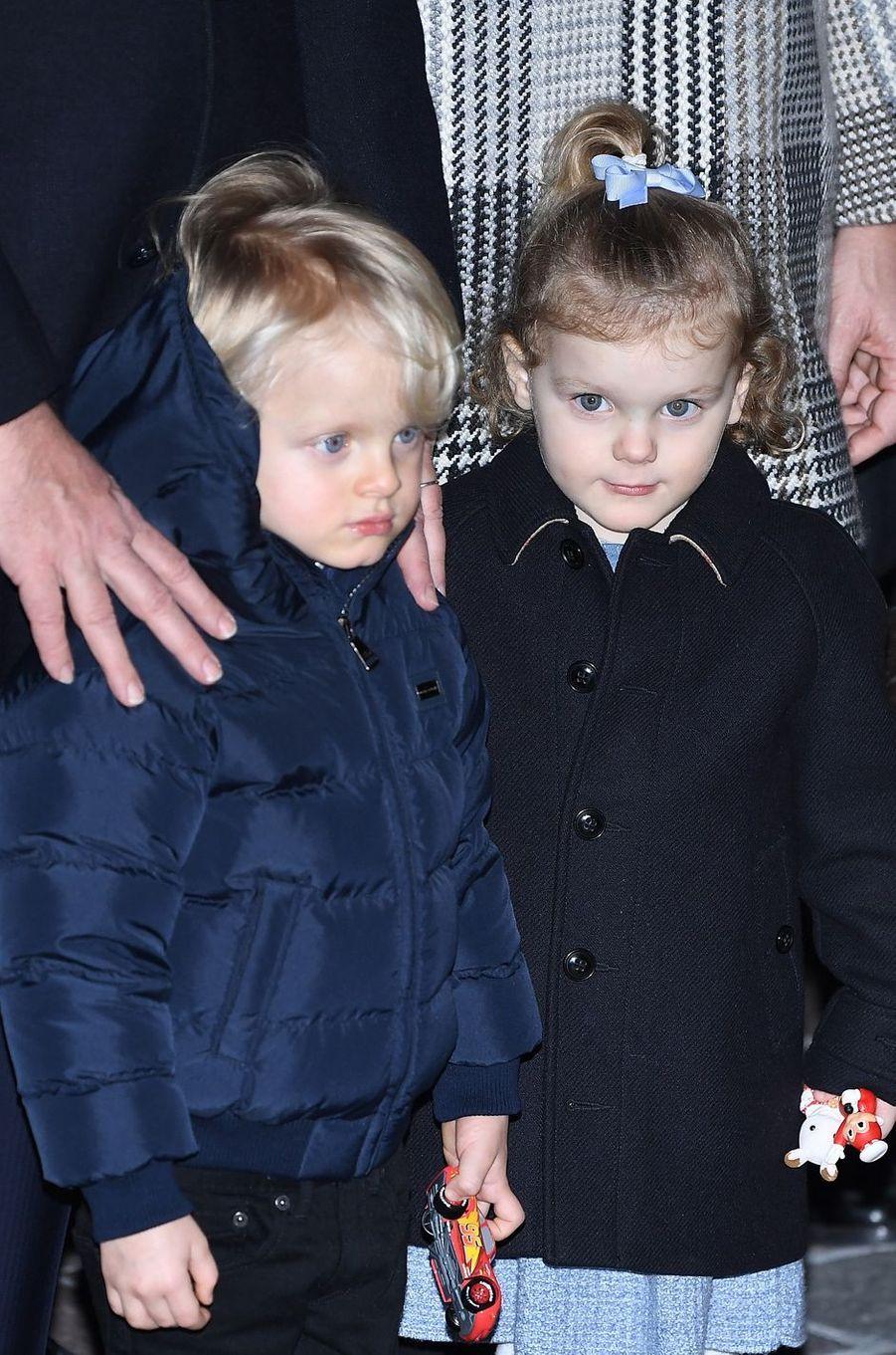 Le prince Jacques et la princesse Gabriella de Monaco, le 26 janvier 2018