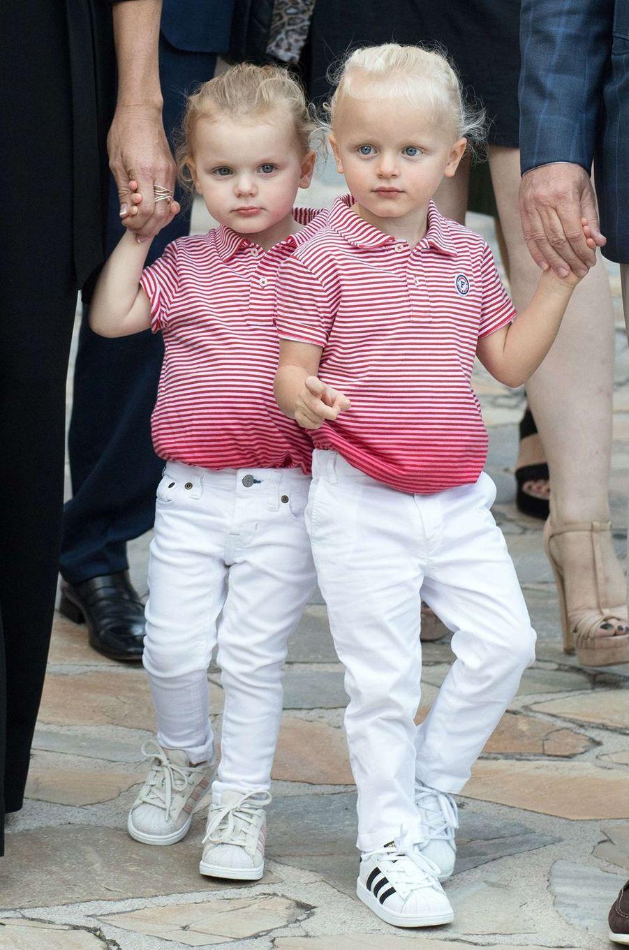 La princesse Gabriella et le prince Jacques de Monaco, le 1er septembre 2017
