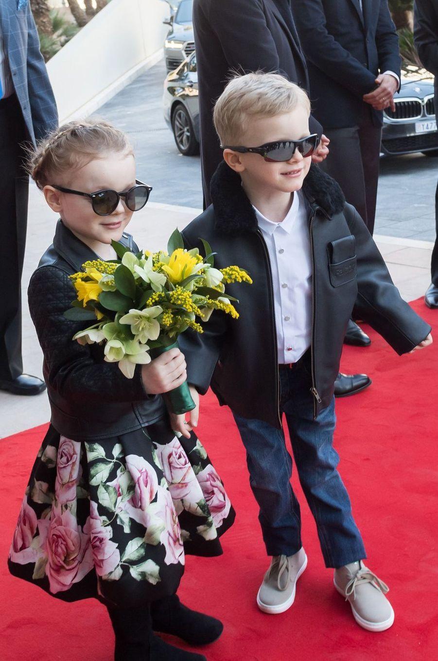 La princesse Gabriella et le prince Jacques de Monaco, le 22 février 2019