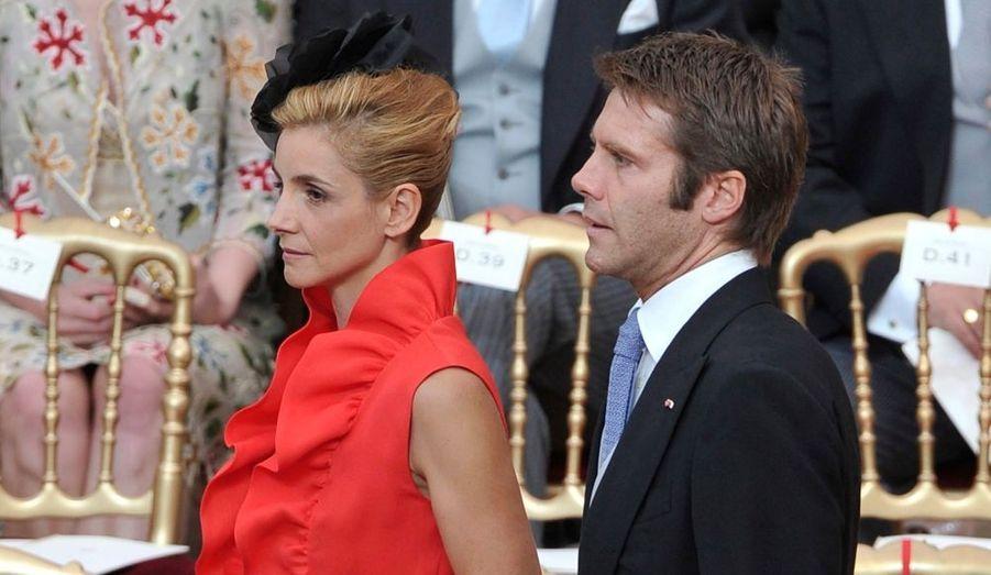 Voici en images les prestigieux invités du mariage religieux d'Albert II de Monaco et Charlene Wittstock.Le prince Emmanuel-Philibert de Savoie et son épouse, l'actrice Clotilde Courau.
