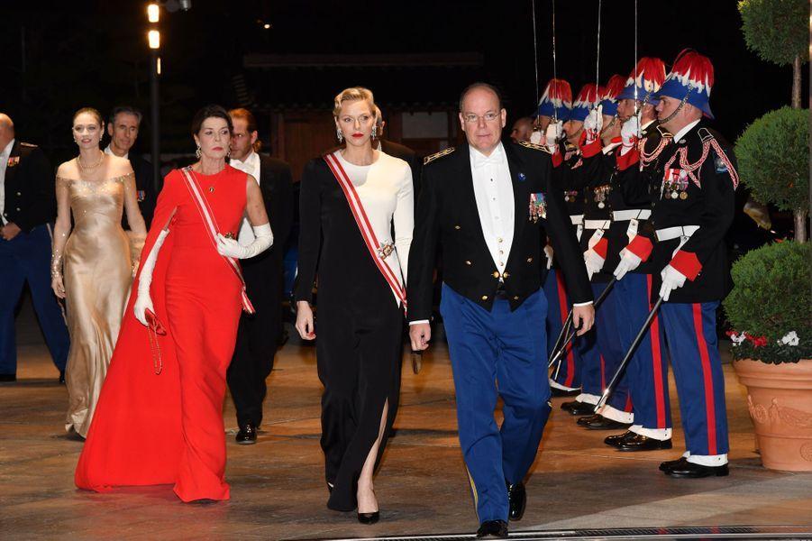 La famille princière de Monaco, à Monaco le 19 novembre 2018