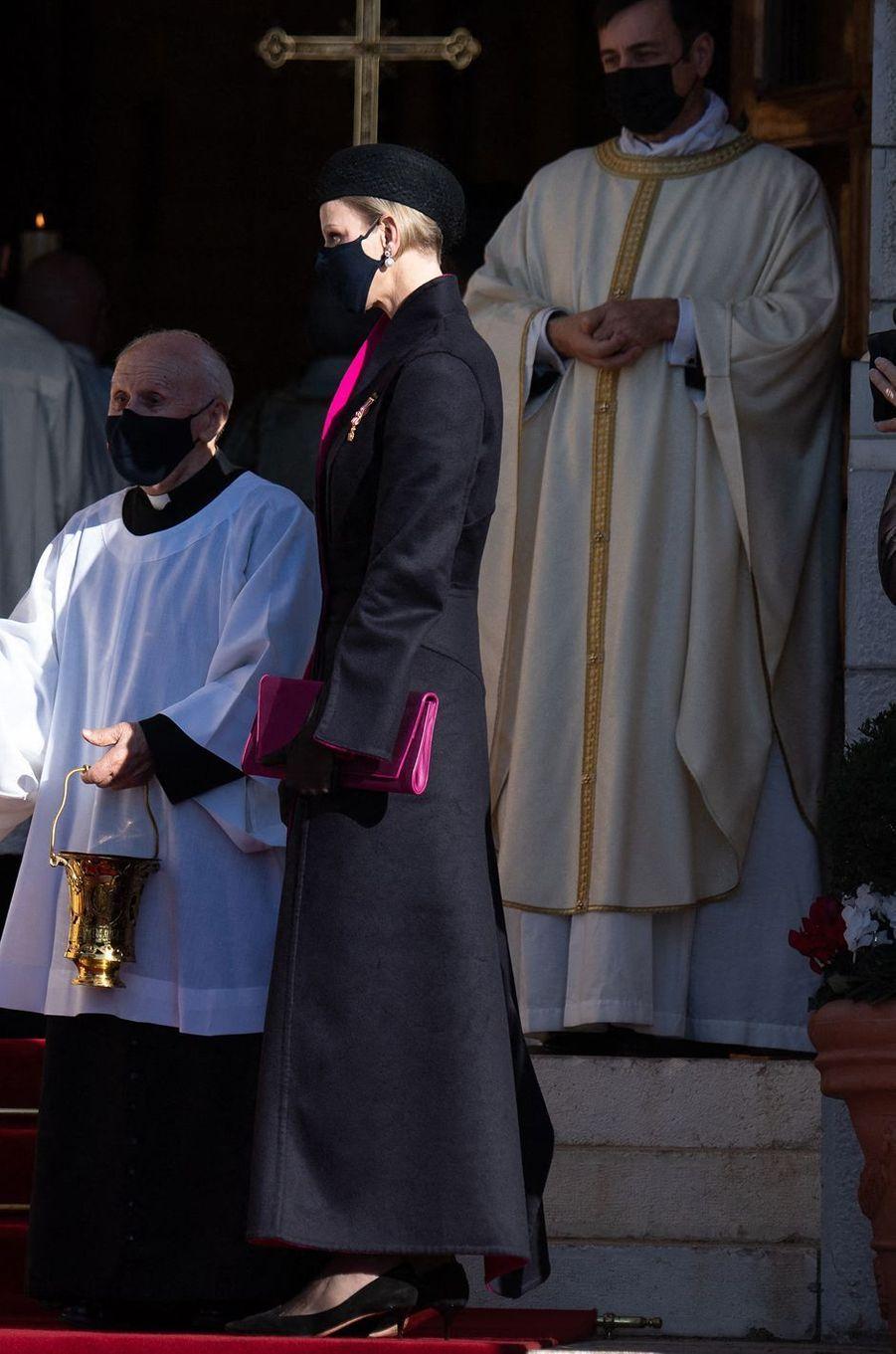 La princesse Charlène de Monaco à Monaco, le 19 novembre 2020