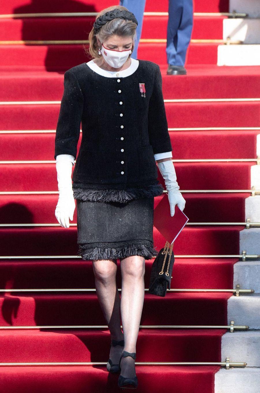 La princesse Caroline de Hanovre à Monaco, le 19 novembre 2020