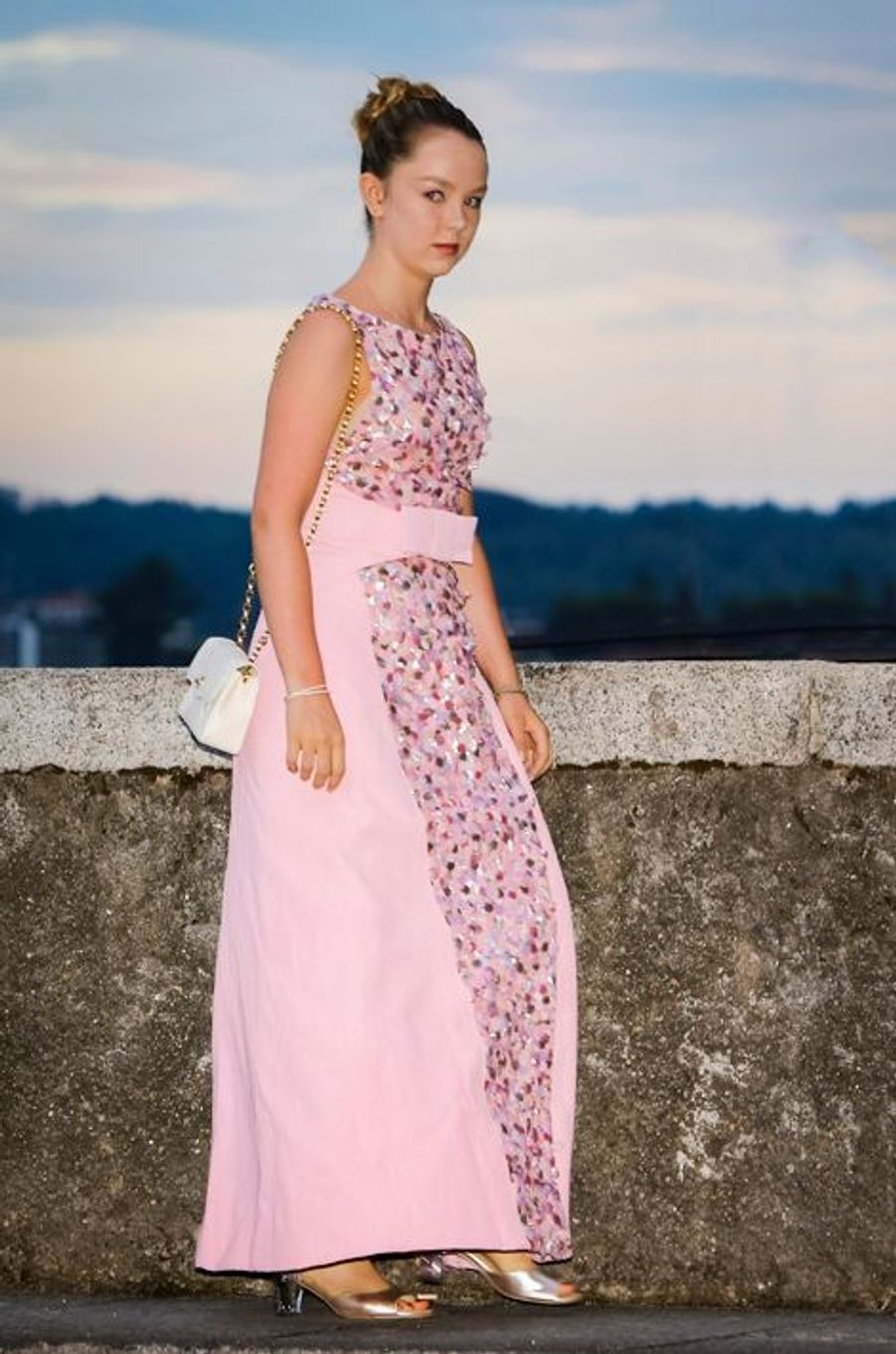 La princesse Alexandra de Hanovre à Angera, le 1er août 2015