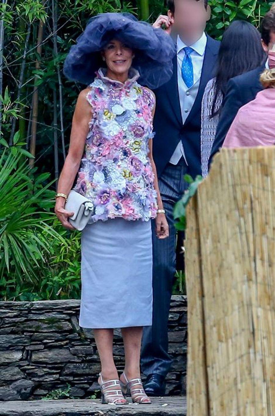 La princesse Caroline de Hanovre à Stresa, le 1er août 2015