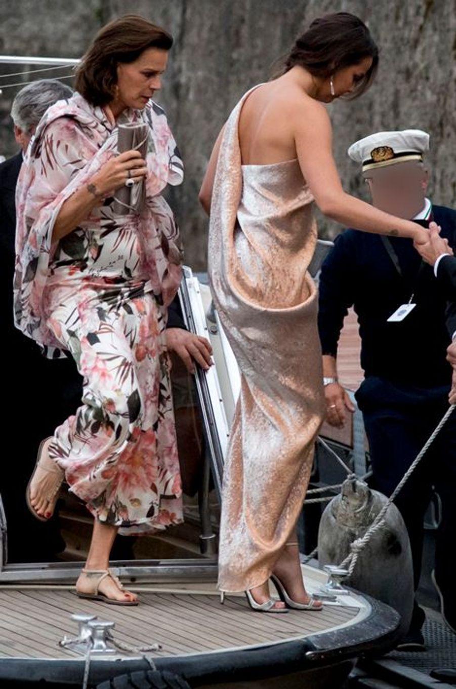 La princesse Stéphanie de Monaco et Pauline Ducruet à Angera, le 1er août 2015