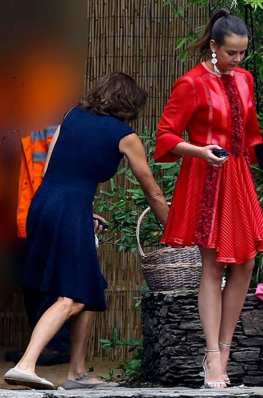 La princesse Stéphanie de Monaco et Pauline Ducruet à Stresa, le 1er août 2015