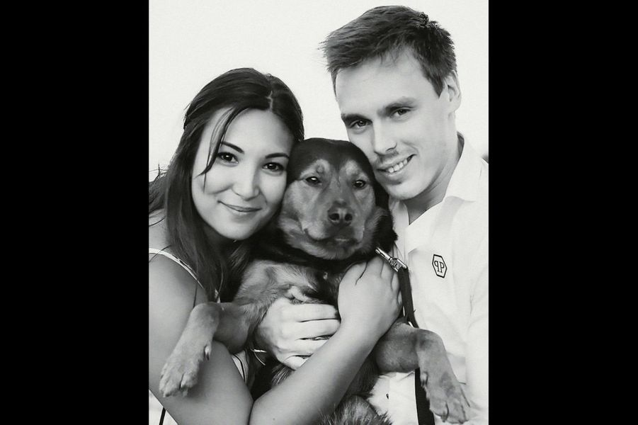 Marie, Louis et leur chien, Pancake.