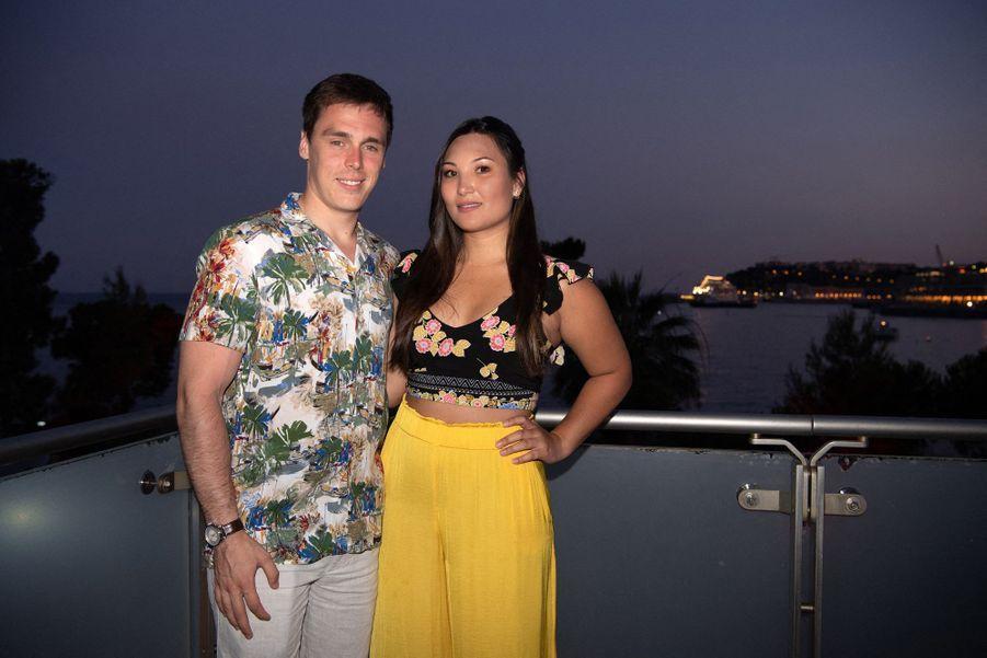 Louis Ducruet et sa fiancée Marie Chevallier à Monaco le 13 juillet 2019