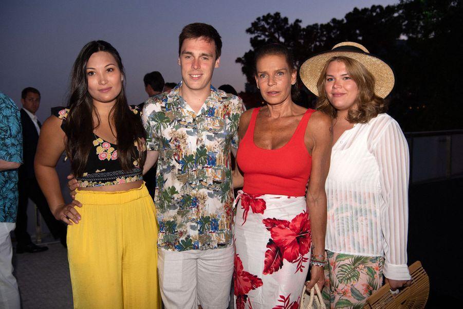 Marie Chevallier, Louis Ducruet, Stéphanie de Monaco et Camille Gottlieb à Monaco le 13 juillet 2019