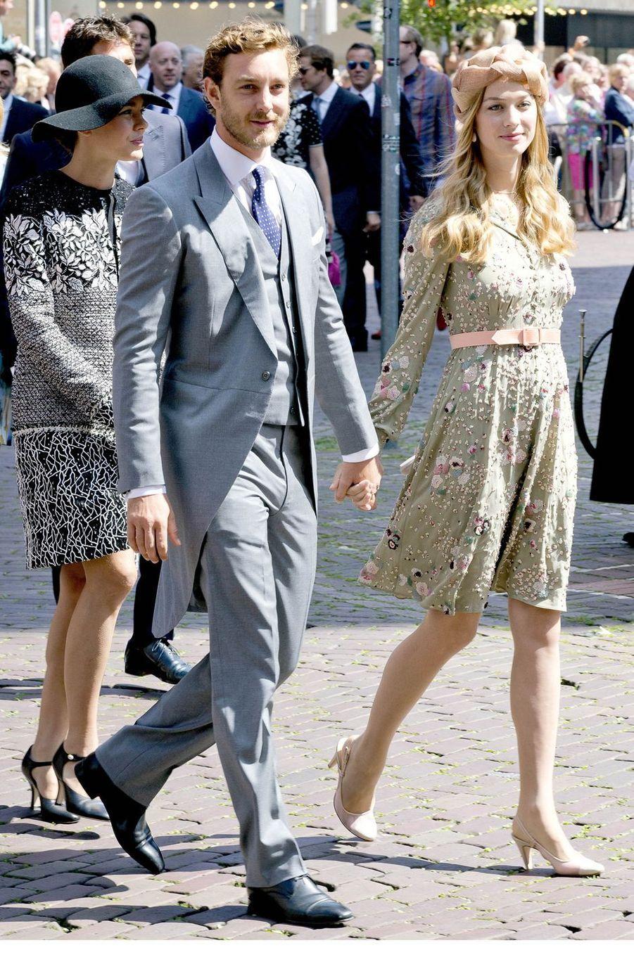 Charlotte Casiraghi avec Pierre Casiraghi et sa femme Beatrice Borromeo à Hanovre, le 8 juillet 2017