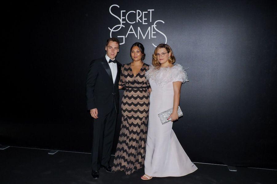 Louis et Marie Ducruet au côté de Camille Gottlieb lors de la soirée «Secrets Games» au Casino de Monte-Carlo le 5 octobre 2019