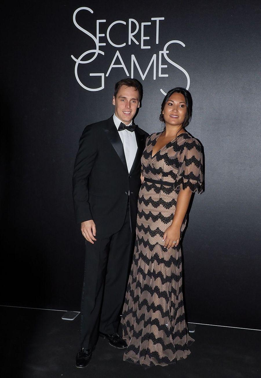 Louis et Marie Ducruet lors de la soirée «Secrets Games» au Casino de Monte-Carlo le 5 octobre 2019
