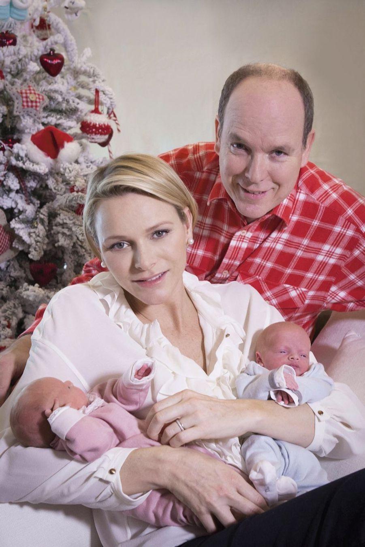 Charlène de Monaco, le prince Albert et leurs jumeaux, le prince Jacques et la princesse Gabriella