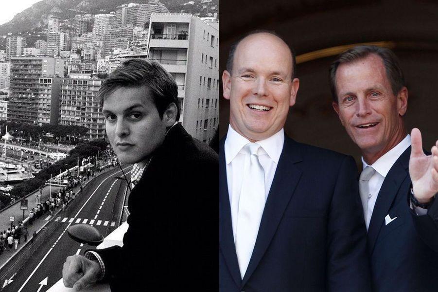 Christopher Le Vine Jr, parrain de Jacques - le prince Albert de Monaco et son cousin Christopher Le Vine Sr