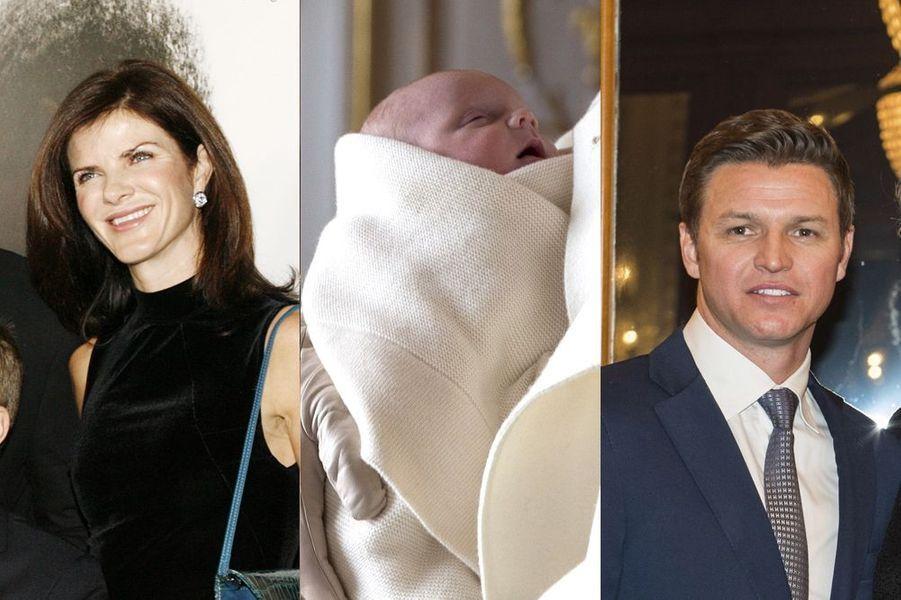 La princesse Gabriella, entourée de sa marraine Nerine Pienaar et son parrain Gareth Wittstock