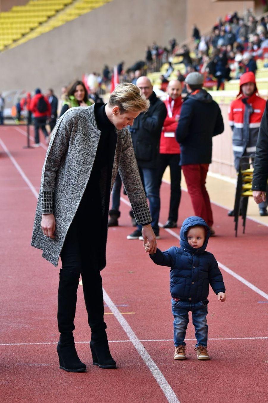 Les premiers pas du prince Jacques de Monaco