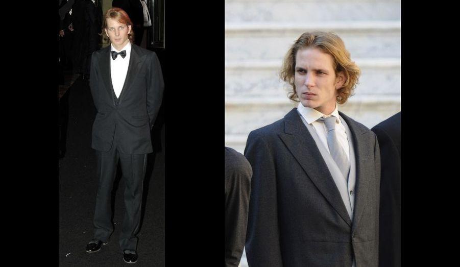 Fils ainé de Caroline, né en 1984 de son mariage avec Stefano Casiraghi, Andrea est second - après sa mère - dans l'ordre de succession au trône de Monaco.