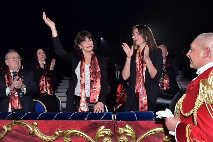 La princesse Stéphanie de Monaco et sa fille Pauline Ducruet à Monaco, le 14 janvier 2016