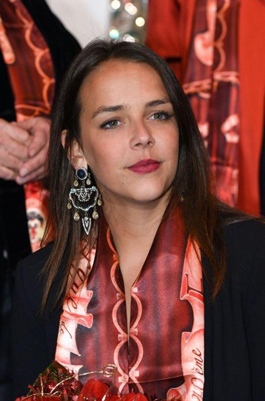 Pauline Ducruet au 40e Festival international du cirque de Monte-Carlo à Monaco, le 14 janvier 2016