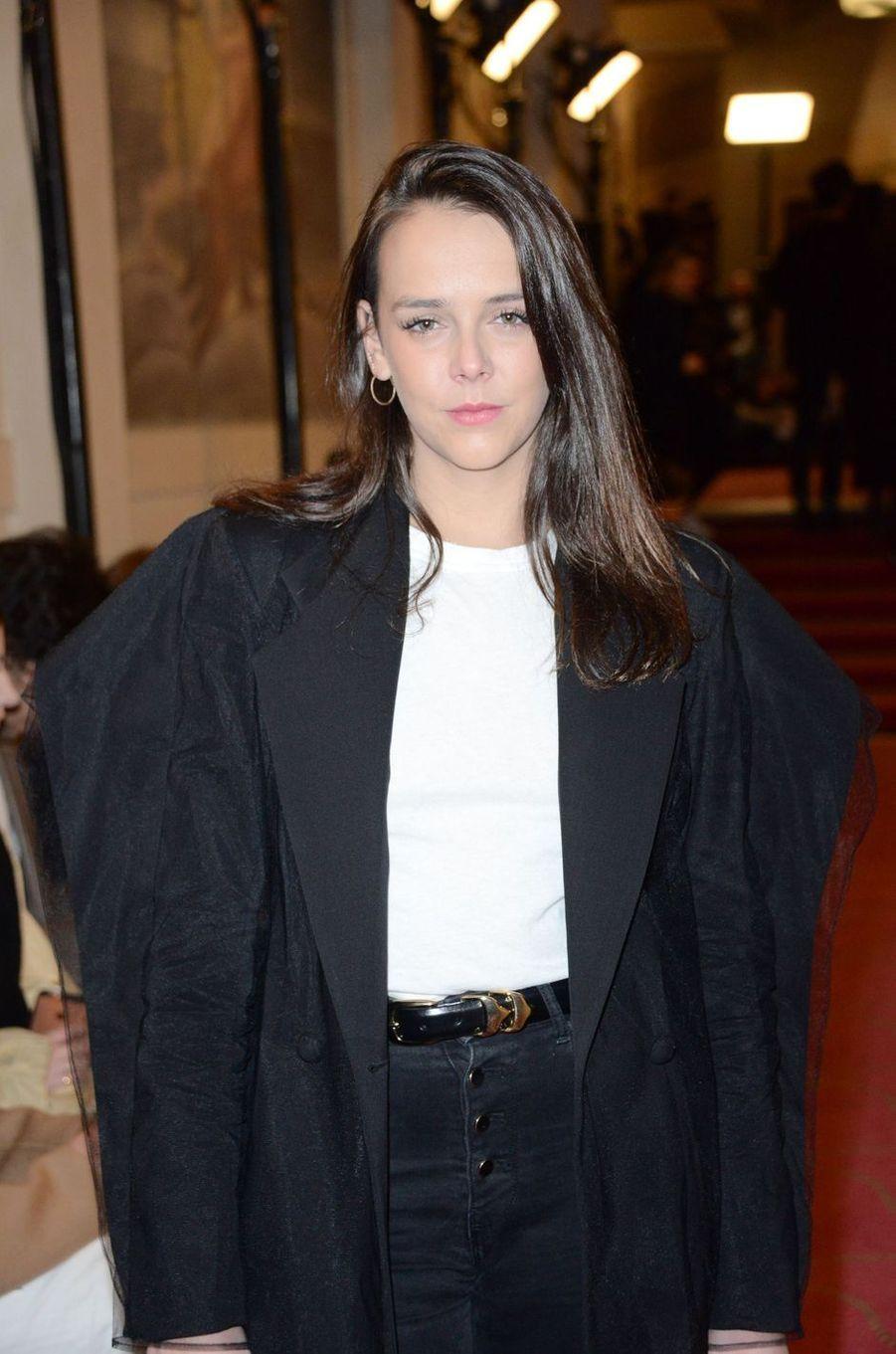 Pauline Ducruet à la Fashion Week à Paris, le 1er mars 2018