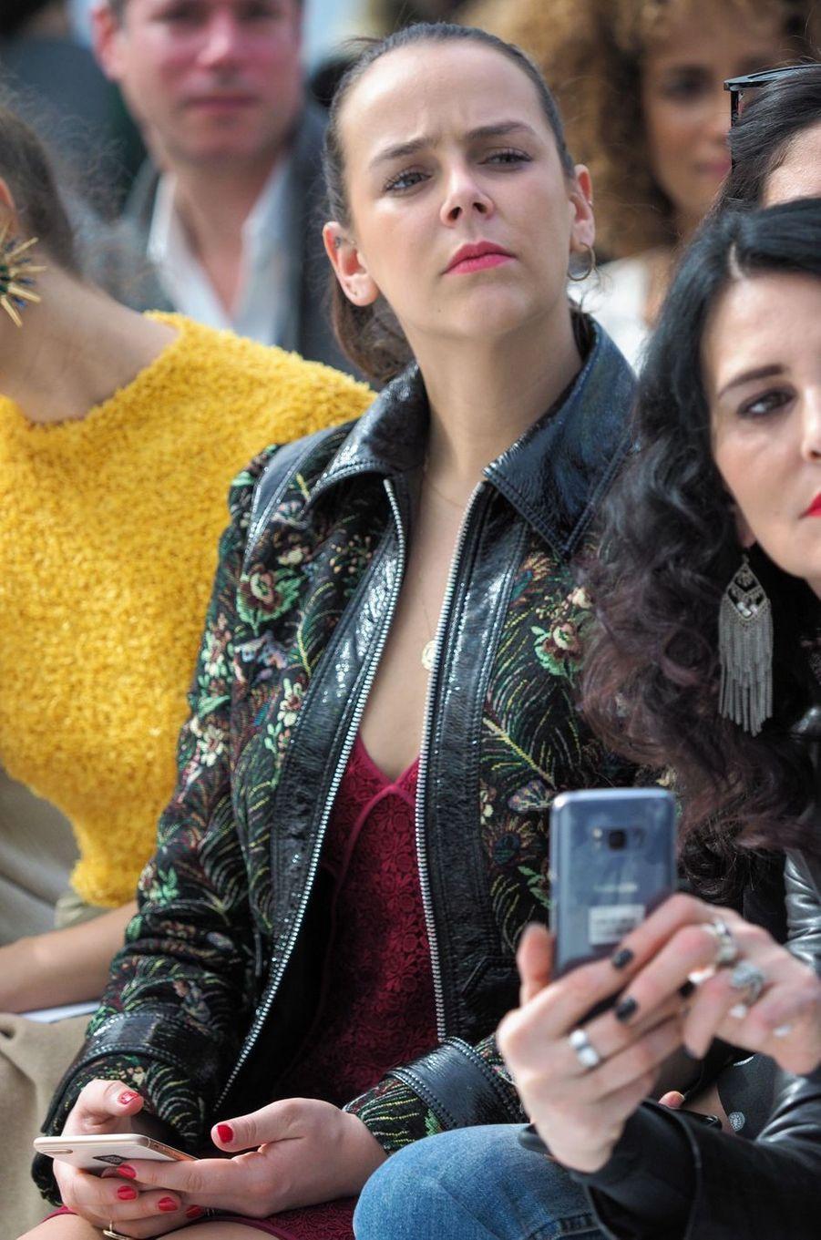 Pauline Ducruet à la Fashion Week au défiléLéonard à Paris, le 5 mars 2018