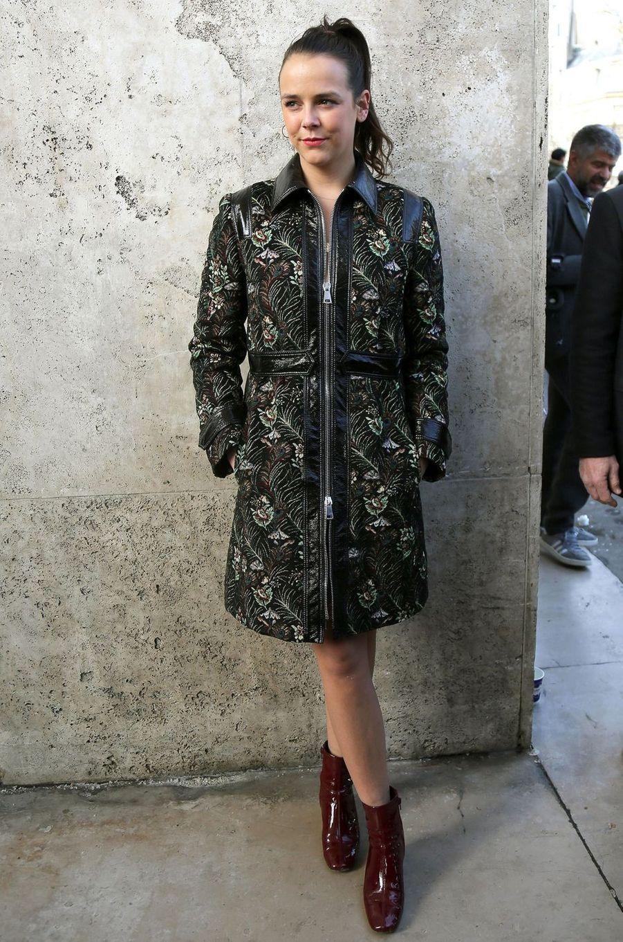 Pauline Ducruet au défilé Giambattista Valli à la Fashion Week à Paris, le 5 mars 2018