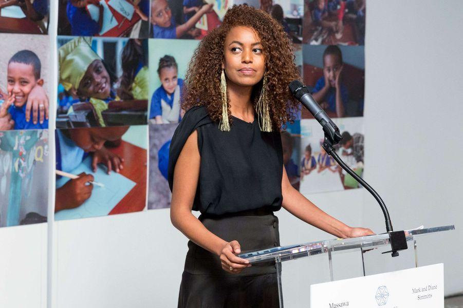 Atti Worku, ancienne Miss Ethiopie, à New York le 15 novembre 2017