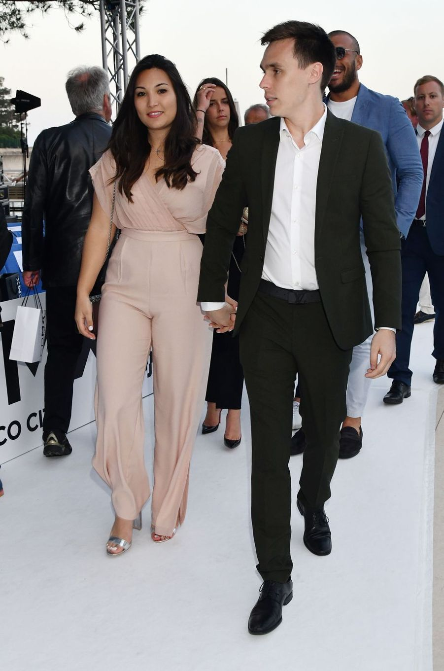 Louis Ducruet avec sa fiancée Marie Chevallier à Monaco, le 25 mai 2018