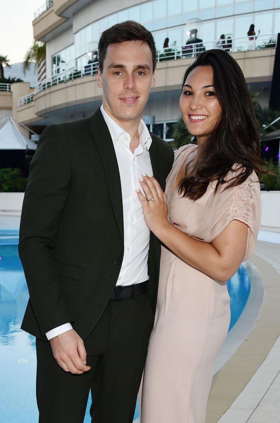 Louis Ducruet et sa fiancée Marie Chevallier à Monaco, le 25 mai 2018