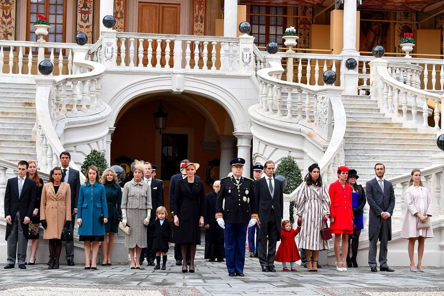 Louis Ducruet, Princesse Stephanie, Princesse Alexandra de Hanovre, Princesse Caroline de Hanovre, Princesse Charlene, Prince Albert II de Monaco, A...