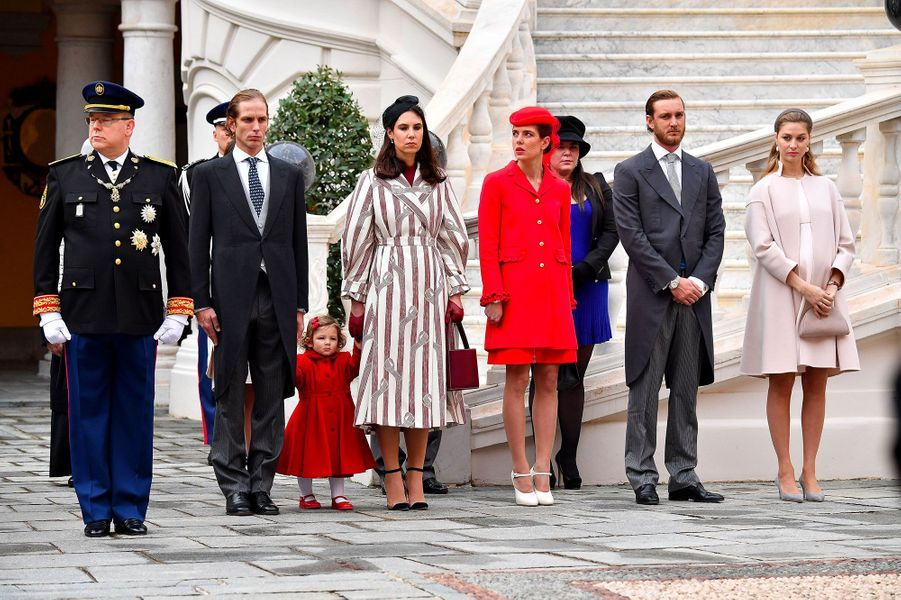 Prince Albert II de Monaco, Andrea Casiraghi, India Casiraghi , Tatiana Santo Domingo, Charlotte Casiraghi, Pierre Casiraghi, Beatrice Borromeo